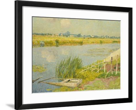 The Lily Banks; Bords De La Lys-Emile Claus-Framed Art Print