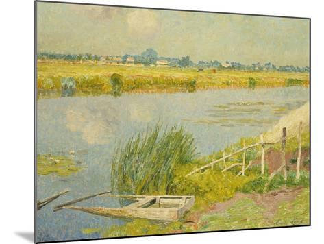 The Lily Banks; Bords De La Lys-Emile Claus-Mounted Giclee Print