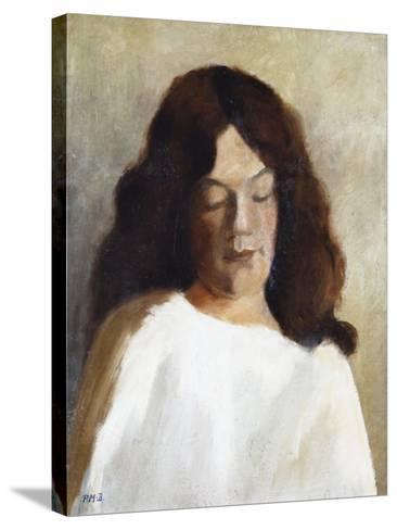 Quarter Length Portrait of a Woman with Her Hair Down; Brustbild Einer Jungen Frau Mit Offenem Haar-Paula Modersohn-Becker-Stretched Canvas Print