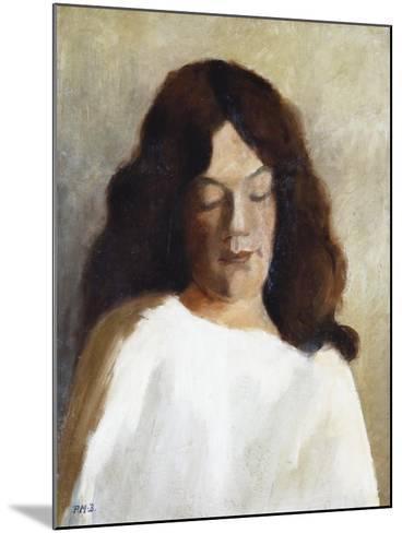Quarter Length Portrait of a Woman with Her Hair Down; Brustbild Einer Jungen Frau Mit Offenem Haar-Paula Modersohn-Becker-Mounted Giclee Print