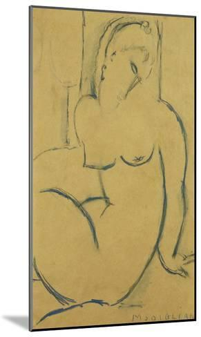 Seated Woman; Femme Assise-Amedeo Modigliani-Mounted Giclee Print