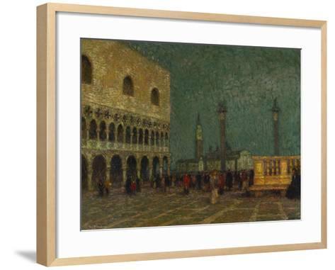 Venice, St. Mark's Square; Venise, La Place St. Marc-Henri Eugene Augustin Le Sidaner-Framed Art Print