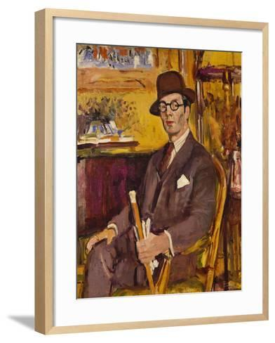 The Malacca Cane, a Portrait of Duncan Macdonald, Esq, Seated-George Leslie Hunter-Framed Art Print