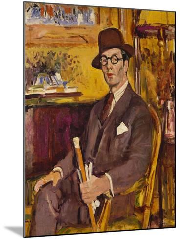 The Malacca Cane, a Portrait of Duncan Macdonald, Esq, Seated-George Leslie Hunter-Mounted Giclee Print