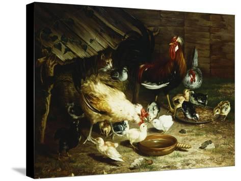 Feeding Time-Ignace Spiridon-Stretched Canvas Print