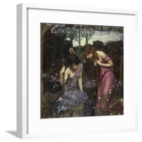 Nymphs Finding the Head of Orpheus-John William Waterhouse-Framed Art Print