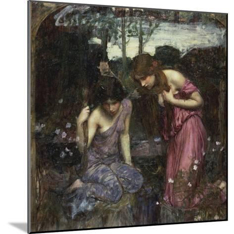 Nymphs Finding the Head of Orpheus-John William Waterhouse-Mounted Giclee Print