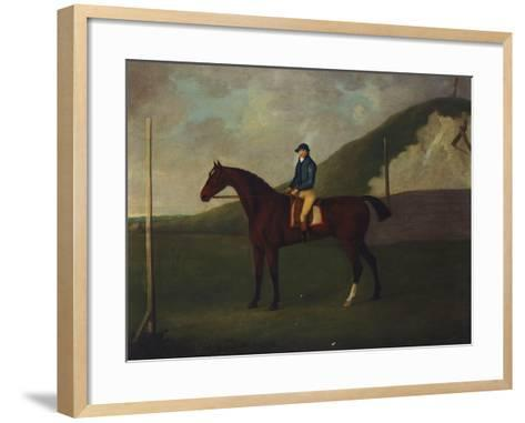 Creeper' a Bay Colt with Jockey Up at the Starting Post at the Running Gap in the Devils Ditch,…-John Nost Sartorius-Framed Art Print