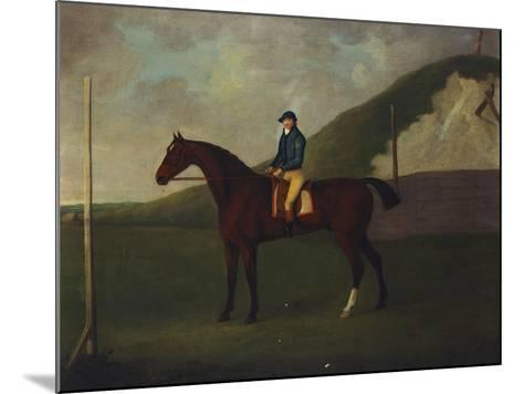 Creeper' a Bay Colt with Jockey Up at the Starting Post at the Running Gap in the Devils Ditch,…-John Nost Sartorius-Mounted Giclee Print