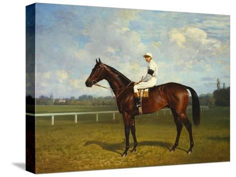 The Racehorse, 'Northeast' with Jockey Up-Emil Adam-Stretched Canvas Print