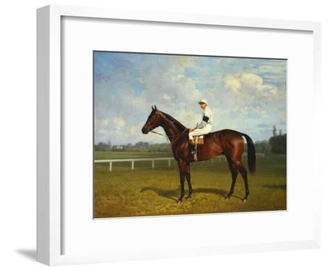 The Racehorse, 'Northeast' with Jockey Up-Emil Adam-Framed Art Print