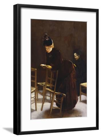 Woman at Prayer; Femme En Priere-Jean B?raud-Framed Art Print