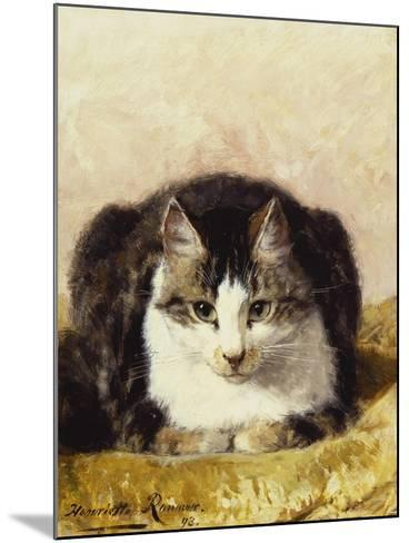 Sitting Pretty-Henriette Ronner-Knip-Mounted Giclee Print