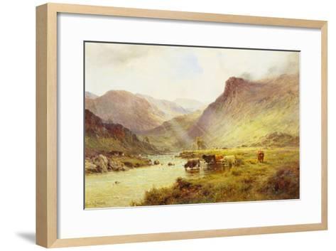 The Banks O'Doune-Alfred De Breanski, Sr^-Framed Art Print