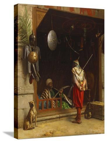 The Arms Market at Cairo; Un Marchand D'Armes Au Caire-Jean Leon Gerome-Stretched Canvas Print