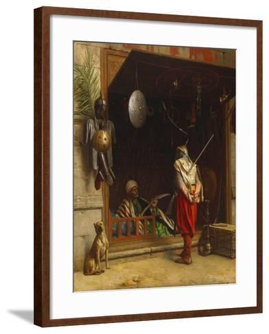The Arms Market at Cairo; Un Marchand D'Armes Au Caire-Jean Leon Gerome-Framed Art Print