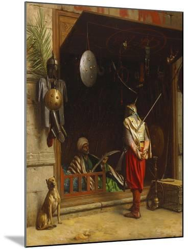 The Arms Market at Cairo; Un Marchand D'Armes Au Caire-Jean Leon Gerome-Mounted Giclee Print