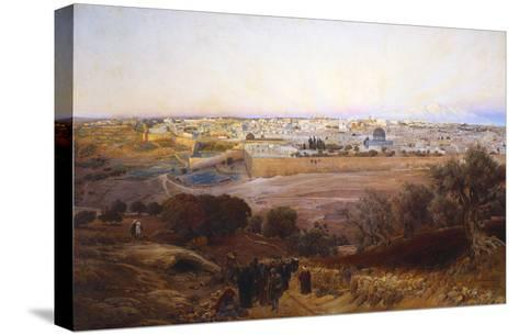 Jerusalem from the Mount of Olives-Gustav Bauernfeind-Stretched Canvas Print