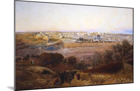 Jerusalem from the Mount of Olives-Gustav Bauernfeind-Mounted Giclee Print