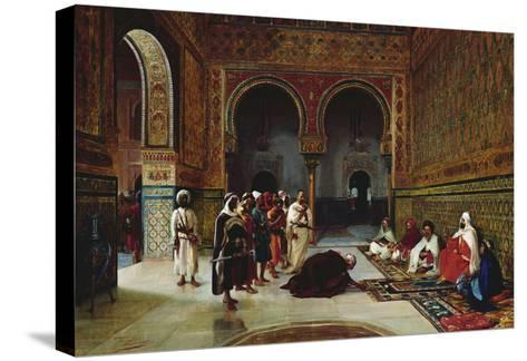 An Oath of Allegiance in the Hall of the Abencerrajes, Alhambra, Granada-Filippo Baratti-Stretched Canvas Print