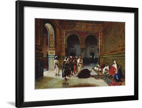 An Oath of Allegiance in the Hall of the Abencerrajes, Alhambra, Granada-Filippo Baratti-Framed Art Print