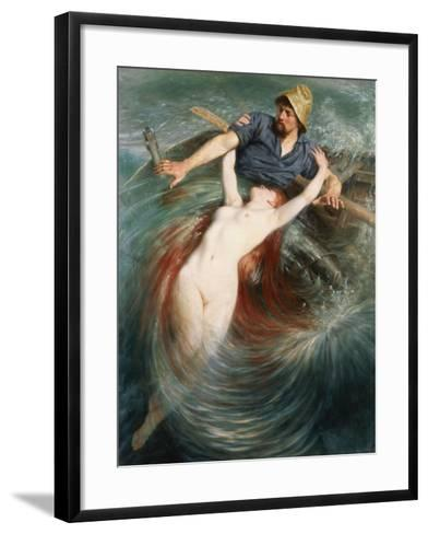 A Fisherman Engulfed by a Siren-Knut Ekvall-Framed Art Print