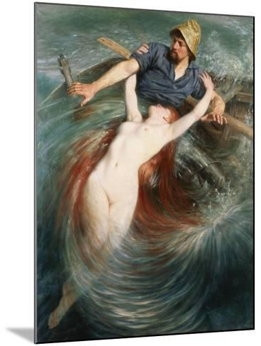 A Fisherman Engulfed by a Siren-Knut Ekvall-Mounted Giclee Print