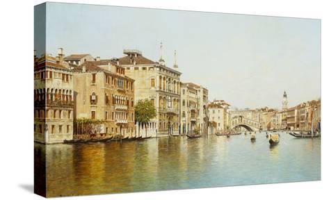 The Grand Canal with the Rialto Bridge, Venice-Rafael Senet-Stretched Canvas Print