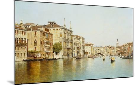 The Grand Canal with the Rialto Bridge, Venice-Rafael Senet-Mounted Giclee Print