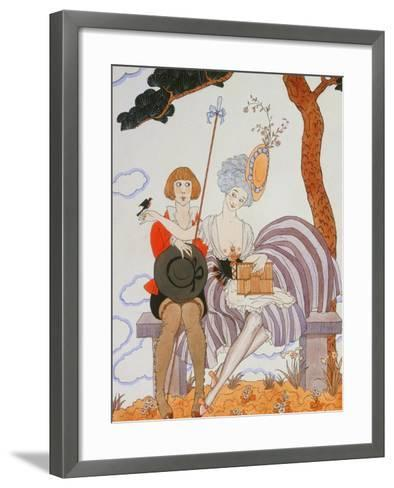 So Much or the Bird Is Quickly Tamed; Tant Mieux Ou L'Oiseau Vite Apprivoise-Georges Barbier-Framed Art Print