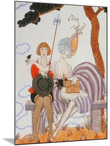 So Much or the Bird Is Quickly Tamed; Tant Mieux Ou L'Oiseau Vite Apprivoise-Georges Barbier-Mounted Giclee Print