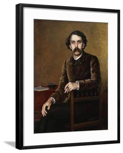 Portrait of Stephane Mallarme, the Poet-Francois Nardi-Framed Art Print