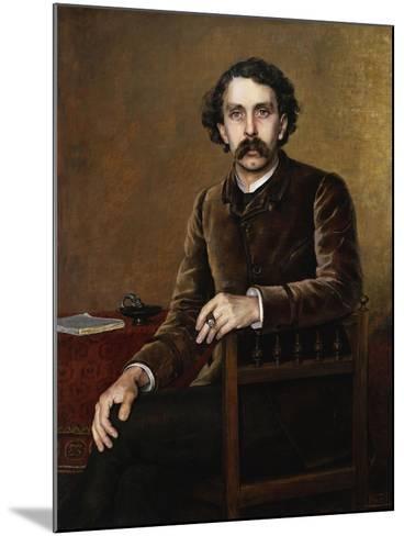 Portrait of Stephane Mallarme, the Poet-Francois Nardi-Mounted Giclee Print