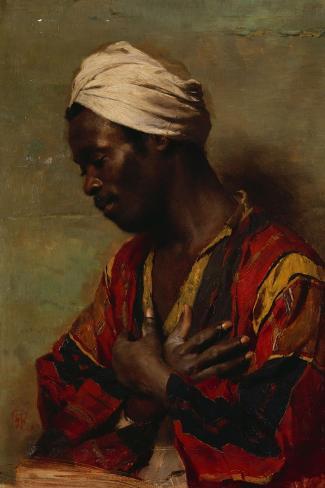 An Arab in Meditation-Carl Ludwig Ferdinand Messmann-Stretched Canvas Print