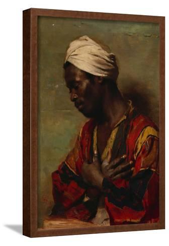 An Arab in Meditation-Carl Ludwig Ferdinand Messmann-Framed Art Print