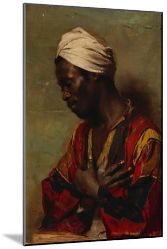 An Arab in Meditation-Carl Ludwig Ferdinand Messmann-Mounted Giclee Print