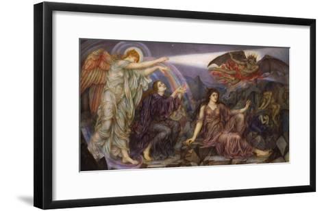 The Searchlight-Evelyn De Morgan-Framed Art Print