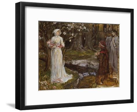 Dante and Beatrice-John William Waterhouse-Framed Art Print