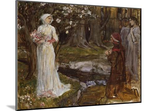 Dante and Beatrice-John William Waterhouse-Mounted Giclee Print