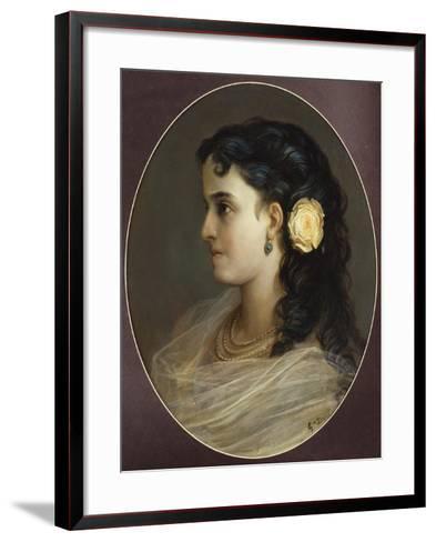 Portrait of Adelina Patti, Head and Shoulders (Female Portrait)-Gustave Dor?-Framed Art Print