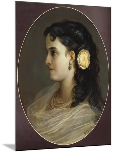Portrait of Adelina Patti, Head and Shoulders (Female Portrait)-Gustave Dor?-Mounted Giclee Print