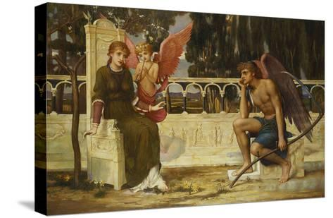 Love and Time-John Melhuish Strudwick-Stretched Canvas Print