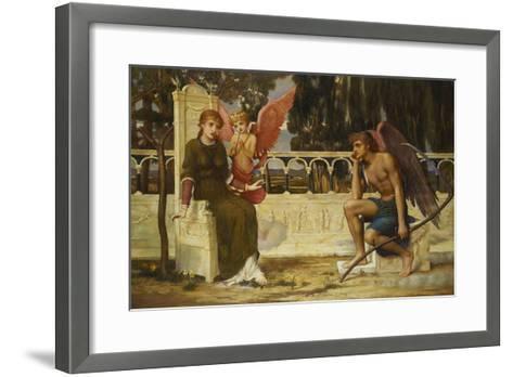 Love and Time-John Melhuish Strudwick-Framed Art Print