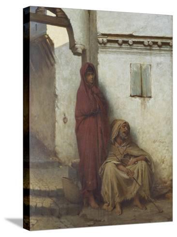 Arab Mendicants-Jean Raymond Hippolyte Lazerges-Stretched Canvas Print
