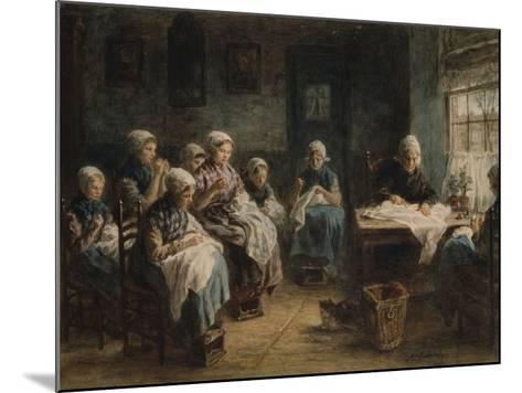 Sewing School at Katwijk-Jozef Israels-Mounted Giclee Print