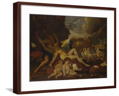 Venus and Adonis-Nicolas Poussin-Framed Art Print