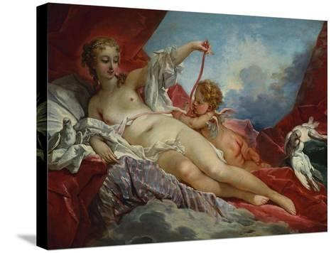 Venus and Cupid-Francois Boucher-Stretched Canvas Print