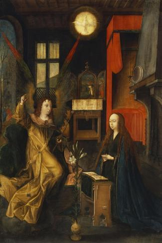 The Annunciation-Jan Provost (Circle of)-Stretched Canvas Print
