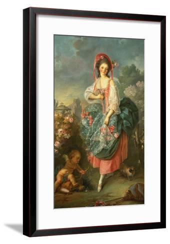 Portrait of Mademoiselle Guimard as Terpsichore-Jacques-Louis David-Framed Art Print
