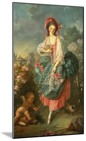 Portrait of Mademoiselle Guimard as Terpsichore-Jacques-Louis David-Mounted Giclee Print